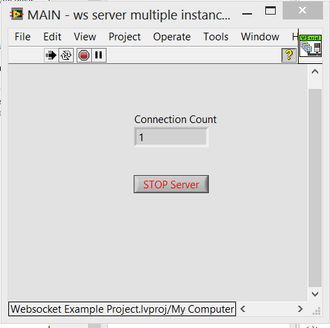 screenshot labview websocket server