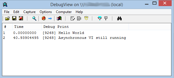 DebugView Screenshot