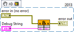 Debug String VI blockdiagram snippet